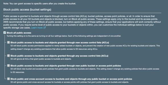 S3 block public access