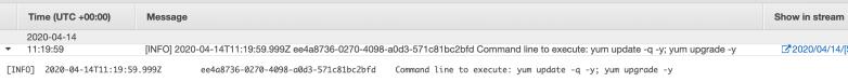 Commadn line update